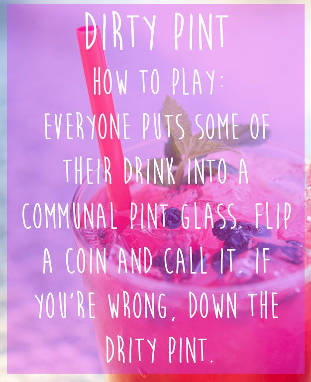 Dirty Pint | 15 Simple Drinking Games Every Fresher Should Know