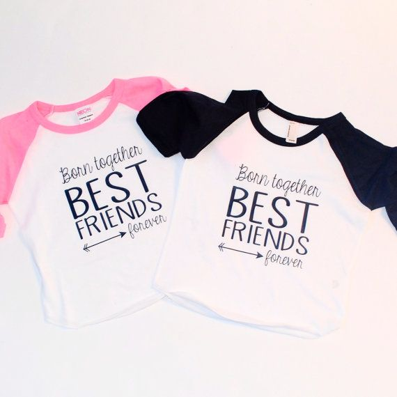 Twins T-shirt best friends forever Inspirational by ...