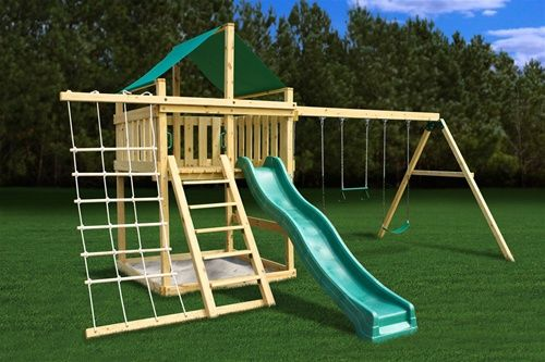 Plan It Play DIY Eclipse Fort Swing Set Kit with Swing Beam