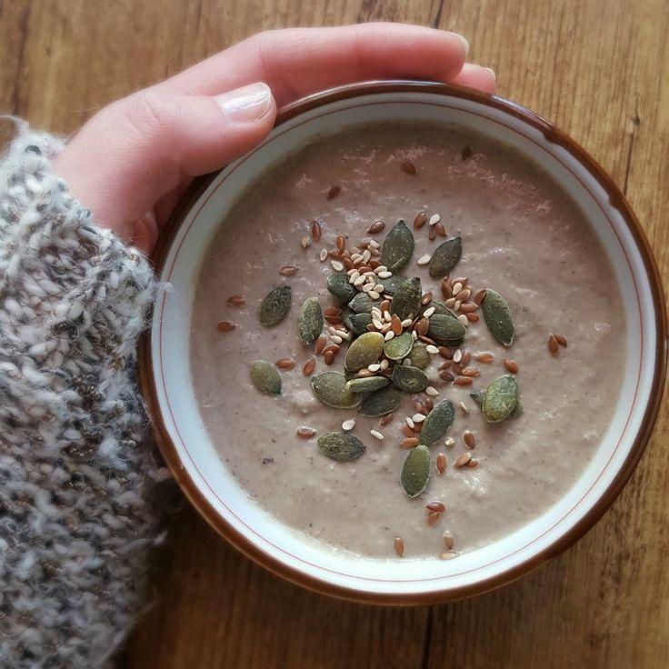 Soupe aux champignons bruns et châtaignes