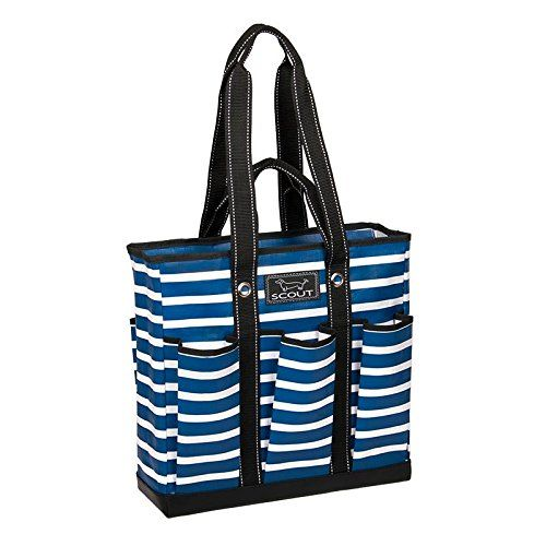 SCOUT Pocket Rocket Tote Bag, Nantucket Navy, 15 by 14-1/2 by 5-Inches