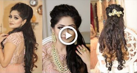 Hairstyle For Reception Twist and Curls