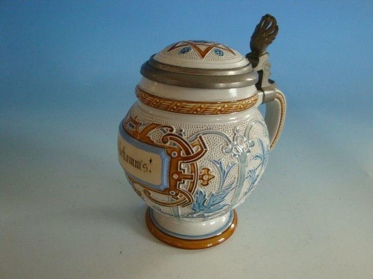 0913A1-181: V&B Mettlach Keramik Bierkrug Münchner Kindl