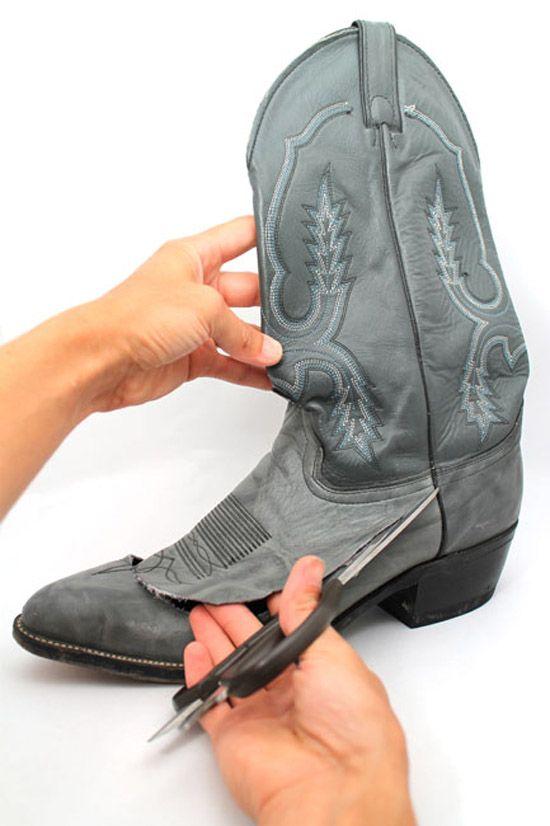 Hacer una cartera-monedero de unas botas viejas