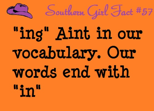 Somethin' special about Southerners.