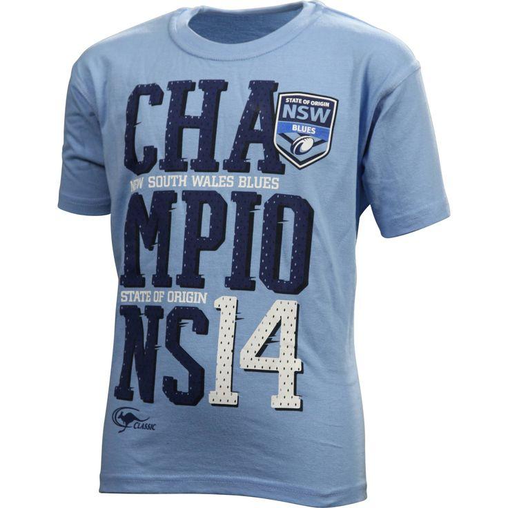 NSW Blues State of Origin 2014 Kids' Champions T-Shirt - NRL Megastore