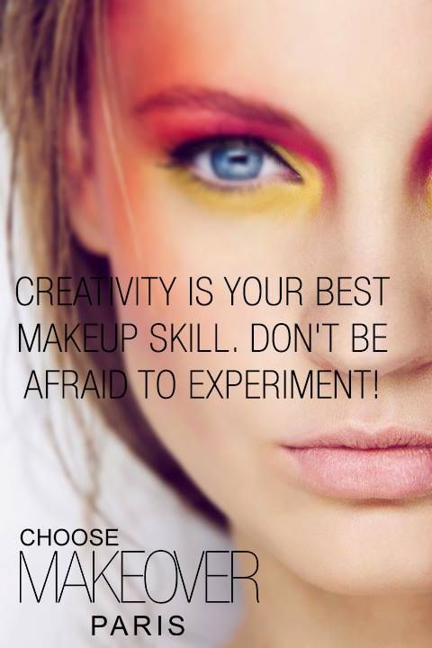Don't be afraid to experiment!  #makeoverparisteinspira Brasov. Makeover Paris. Beautify. Creativity. Make up.