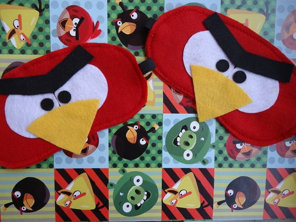 Mascara  de dormir Angry Birds | Bunica Chica | 314839 - Elo7                                                                                                                                                                                 Mais