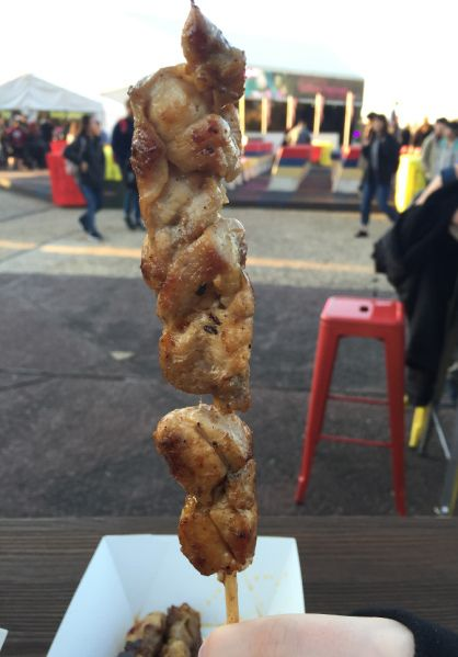 From 'Teppanyaki Noodles' we tried a chicken satay, which was nicely charred in the outside and still juicy in the middle.