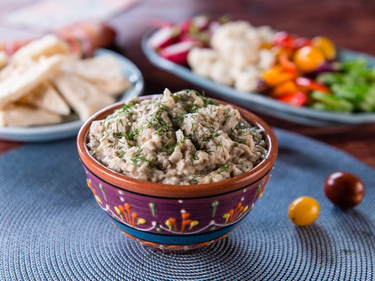 "Nadia's ""Salata de Vinete"" Eggplant Salad Spread Recipe : Food Network - FoodNetwork.com"