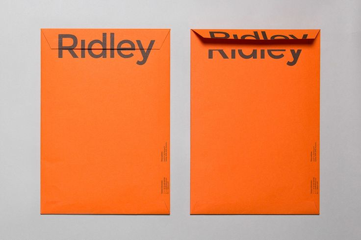 Logotype and envelope designed by RE: for digital architecture and documentation service Ridley. Featured on bpando.org