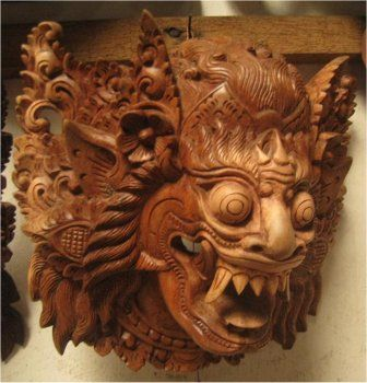 Balinese Barong Mask Barong is a lion-like creature and character in the mythology of Bali, Indonesia. He is the king of the spirits, leader of the hosts of good, and enemy of Rangda, the demon queen and mother of all spirit guarders in the mythological traditions of Bali.