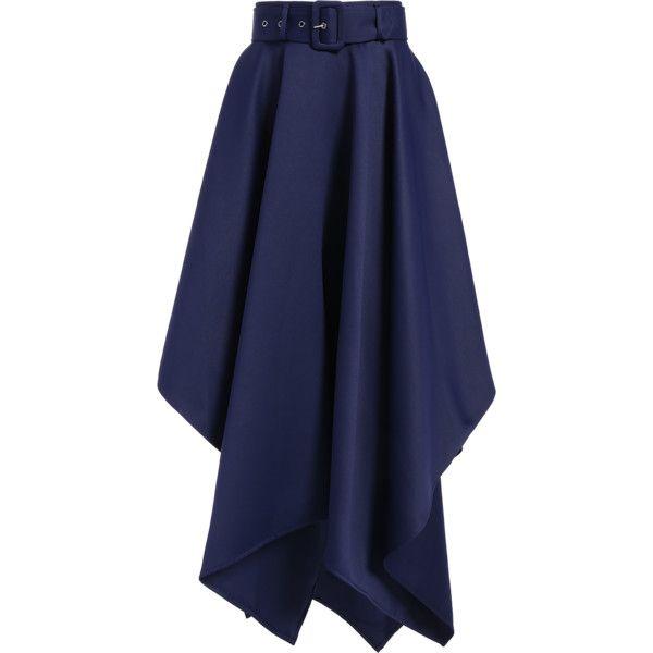 Hanky Hem Maxi Skirt ($36) ❤ liked on Polyvore featuring skirts, ankle length skirt, blue maxi skirt, long skirts, maxi skirt and floor length skirts
