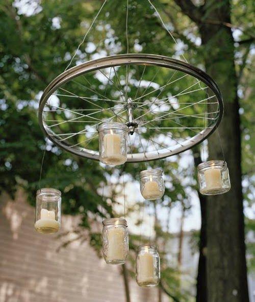 Las 25 mejores ideas sobre ruedas de bicicleta en - Ideas para lamparas ...