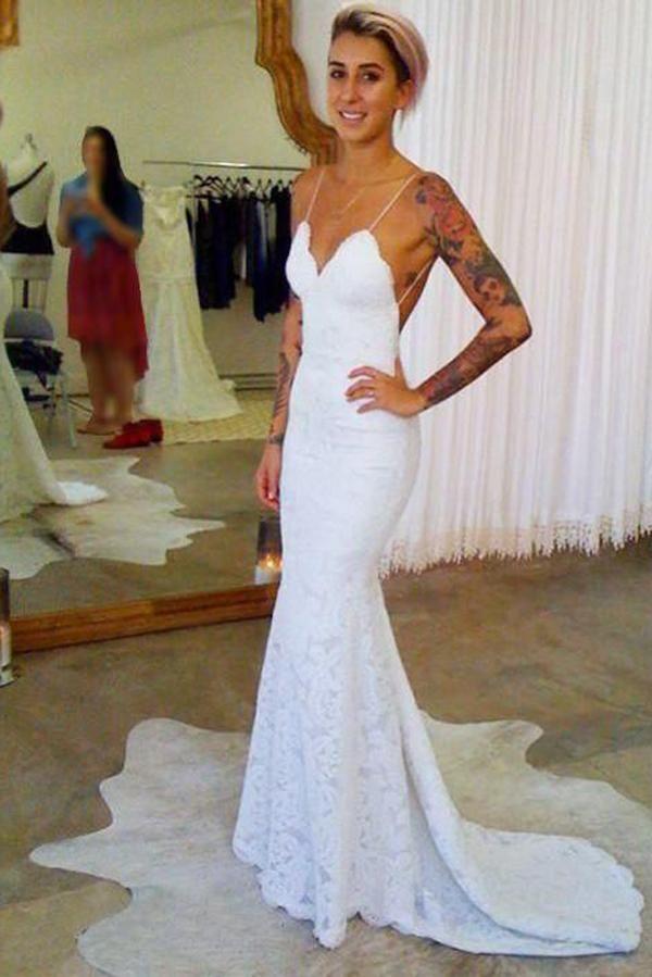 Cheap Spaghetti Strap Wedding Dresses