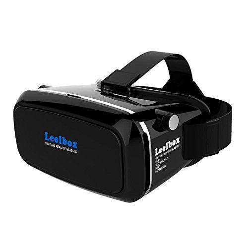 Leelbox Casque de réalité virtuelle 3D VR box pour jeux et films compatible avec les iPhone 6S/6 Plus/6/5S/5 C/5, les Samsung Galaxy…