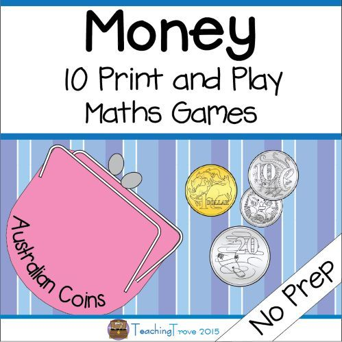 Australian money games for 1 or 2 players contains 10 NO PREP games for consolidating Australian coins.
