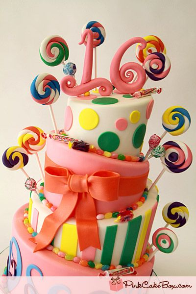 Click to enlarge Sweet 16 Candy Cake