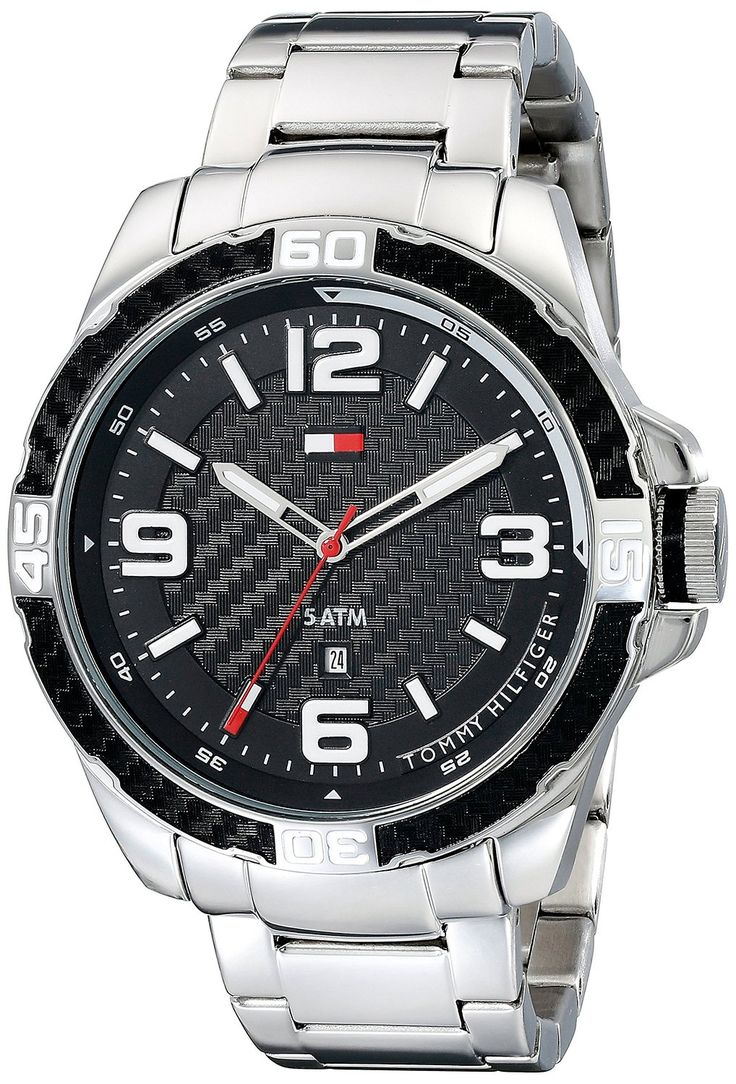 Tommy Hilfiger Men's 1791092 Analog Display Quartz Silver Watch ** Click image for more details.