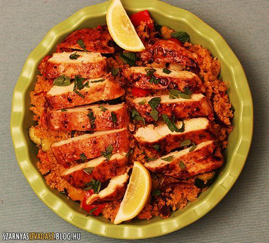 Marokkói zöldséges kuszkusz piri-piri csirkével #couscous #chicken