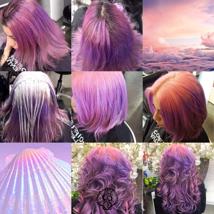 Transformation Tuesday! How to become a mermaid...with City Siren Tasha Colors . #diariesofcitysirens #beauty #hair #coiffure #hairdresser #transformation #tuesday #coiffurevalentino #girlswithdyedhair #coluredhair #purplehair #lilachair #lavenderhair #pinkhair #directions #olaplex #bleach #citysiren #mermaidhair