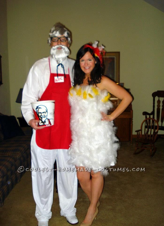 Colonel Sanders and his Favorite Chicken Couple Costume... This website is the Pinterest of costumes