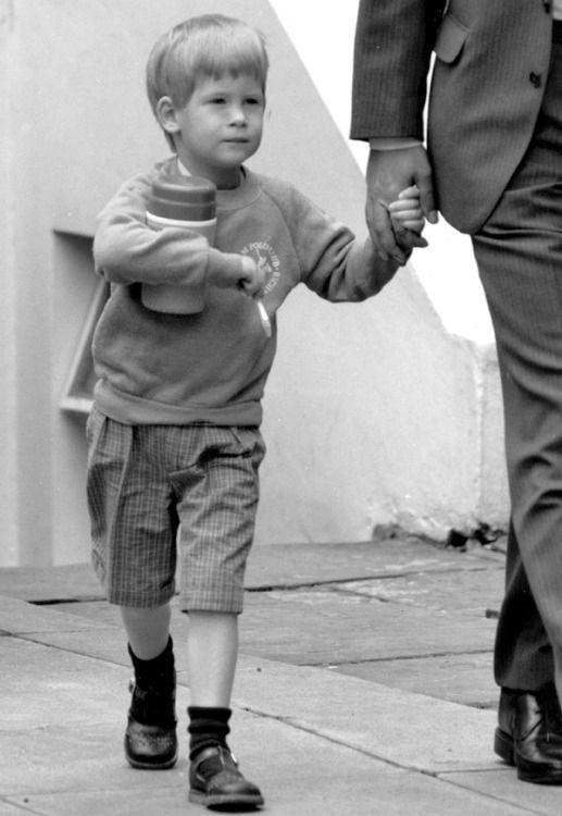 Harry leaves school on his fourth birthday, Septemberr 1988
