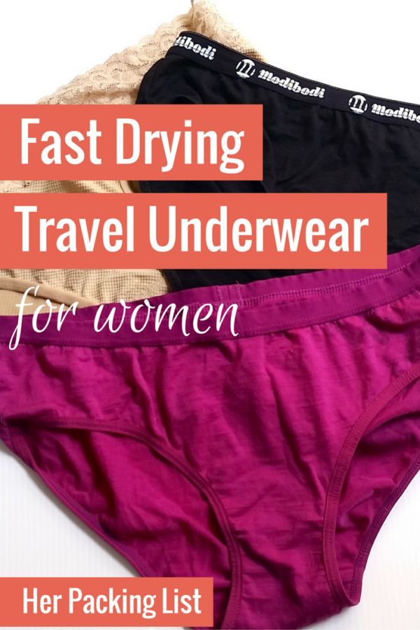 When looking for quick drying clothes, don't overlook the underwear. A good pair of travel underwear will be quick drying.