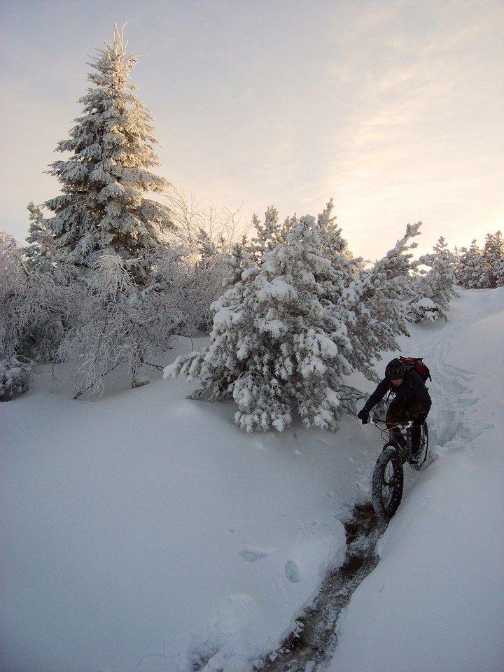 Bike in snow Mountain Biking MTB