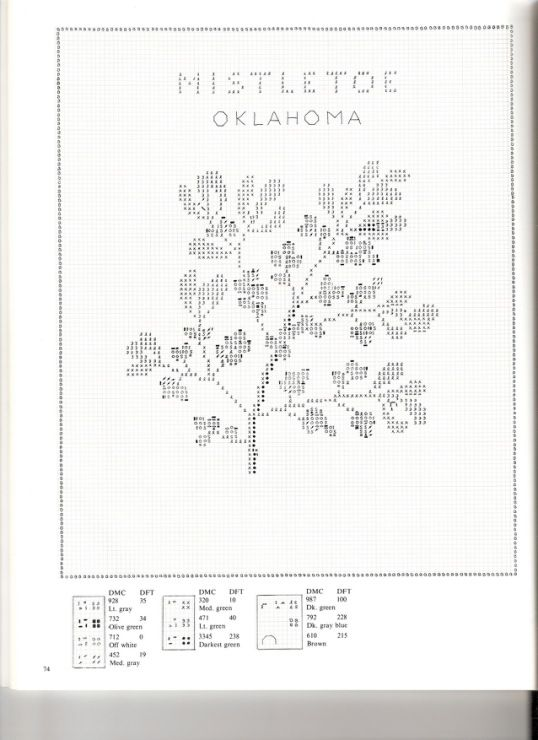 Gallery.ru / Фото #74 - U.S.State Flowers in Counted Cross-Stitch - Orlanda