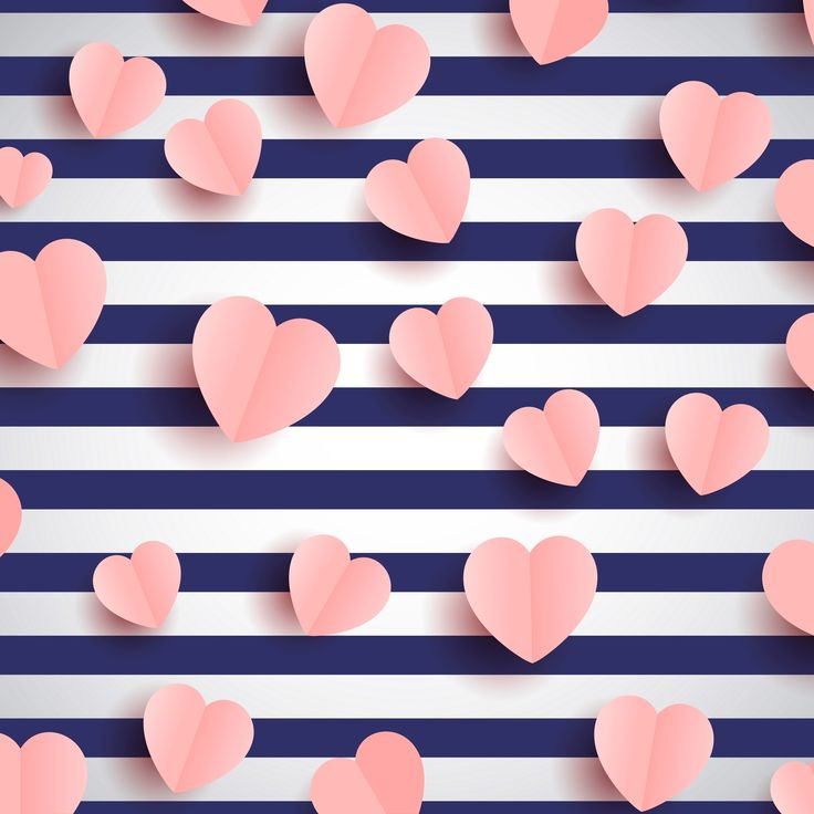 Pin By Pandora On Wallpaper Pink Heart Striped Background Valentines Wallpaper