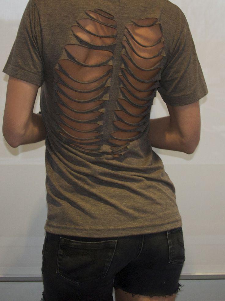 DIY Skeleton Ribs Shirt | DIY Ideas | Pinterest