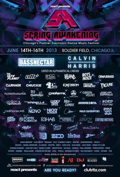 Spring Awakening Festival Announces 2013 Lineup Including Bassnectar, Calvin Harris, Felix da Housecat and More www.mxdwn.com/2013/02/07/news/spring-awakening-festival-announces-2013-lineup-including-bassnectar-calvin-harris-felix-da-housecat-and-more/