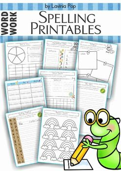 Spelling / Word Work - 17 printable worksheets that you can use with any spelling list.