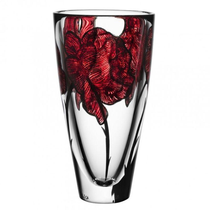 TATTOO vase  by Ludvig Löfgren, Kosta Boda.  Detailed, transparent and rock!