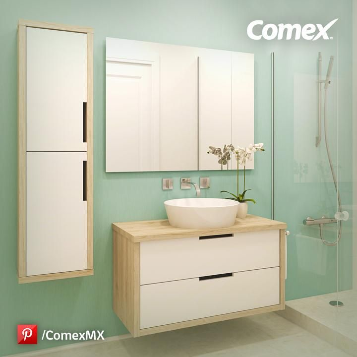 Una idea para que tu ba o sea moderno y diferente comex for Pintura de paredes interiores colores