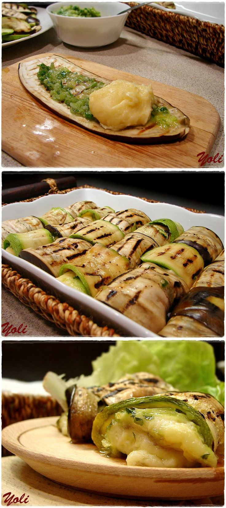Vegetable rolls with cream cheese