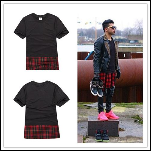 Find More T-Shirts Information about Scottish tartan hem classic models male models double gold zipper round neck T shirt,street fashion mens hip hop clothing,High Quality clothing hip hop,China clothing blue Suppliers, Cheap clothing dress from LZL-Street Wear on Aliexpress.com