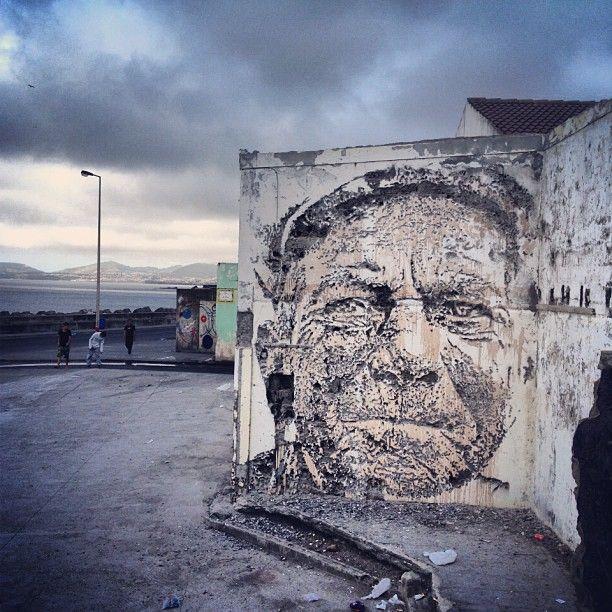 by Vhils - Sr. Bonança, Walk&Talk - Rabo de Peixe, Açores - 2013