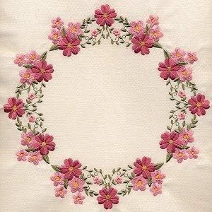 8x8 inch Floral Quilt 2