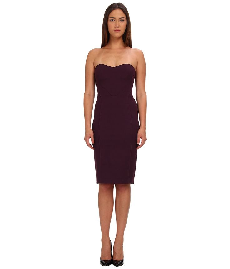 Image of Zac Posen - Strapless Fitted Cocktail Dress (Amethyst) Women's Dress