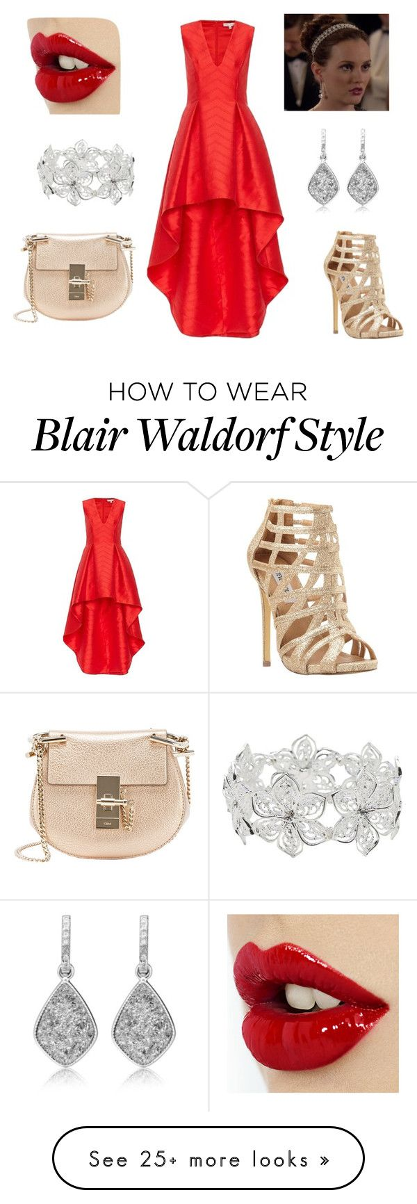 """""""Blair Waldorf Outfits"""" by mari-lomova on Polyvore featuring Steve Madden, Chloé, Alexis, M&Co, women's clothing, women, female, woman, misses and juniors"""