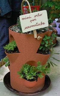 Mini orto per piante aromatiche