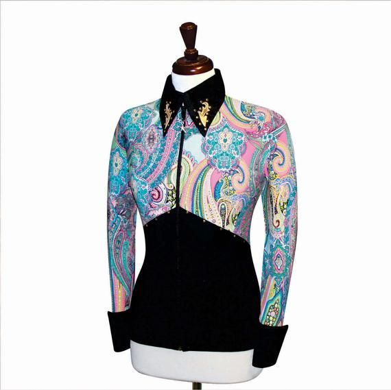 2X-SMALL Western Showmanship Horsemanship Show Jacket Pleasure Shirt Rodeo Queen