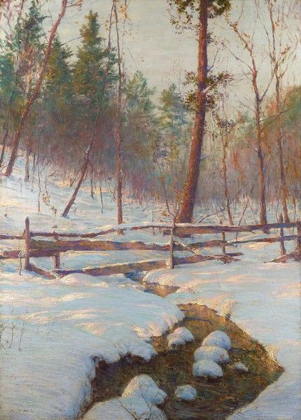 """Walter Launt Palmer, """"Brook and Fence,"""" 1901"""