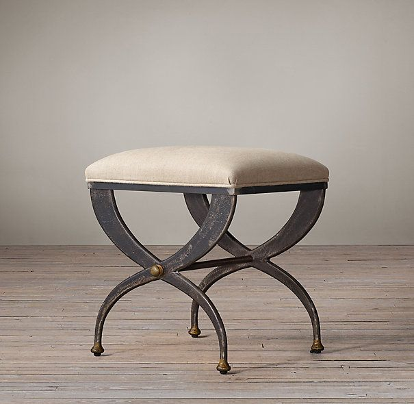 Find this Pin and more on Music Room AR ideas French S Curve Upholstered Stool