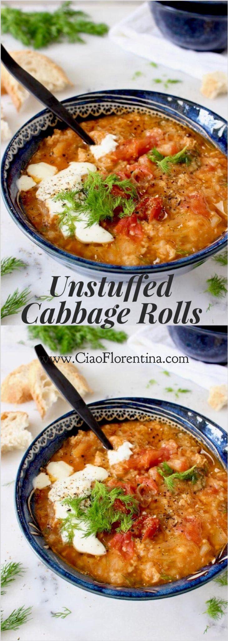 Unstuffed Cabbage Rolls Soup Recipe   CiaoFlorentina.com @CiaoFlorentina