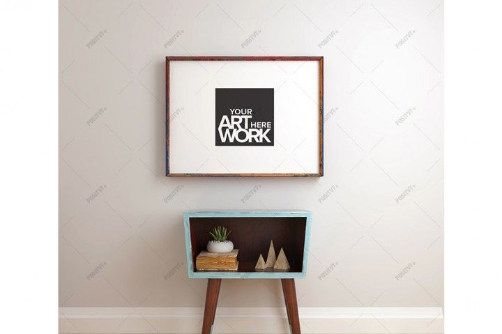 Poster Frame Mockup Mid century - Landscape | The Hungry JPEG