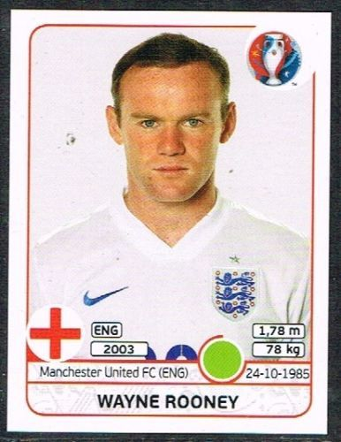 UEFA EURO 2016Wayne Rooney - 145 #euro2016 #Rooney#stricker #stickers #panini…