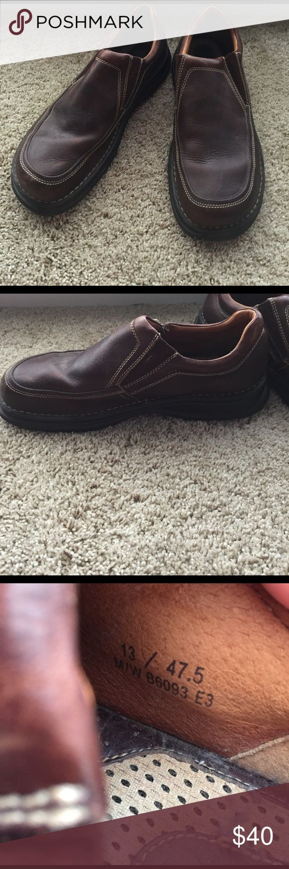 Men's brown slip on shoes Men's Leather slip on shoes Born Shoes Loafers & Slip-Ons